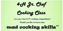 Jr iron chef cooking class flyer