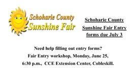 Fair Entry Workshop