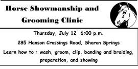 Showmanship clinic flyer