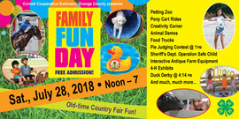 Web banner for family fun day 2018