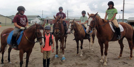 Participants on their horses during Horse Camp