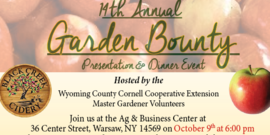 Flyer for garden bounty 2018
