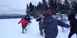 Camp overlook snowshoe