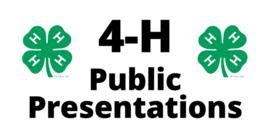 4 h publicpresentations