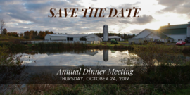 Annual Dinner Save the Date October 24, 2019