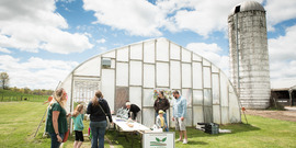 high tunnel greenhouse at cce