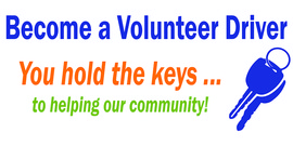 Become a volunteer driver - you hold the keys to helping our community!