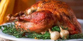 Turkey cooked to an internal temperature of 165 F. (Photo Credit: CDC photo)