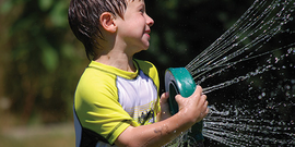 Summer camp sprinkler