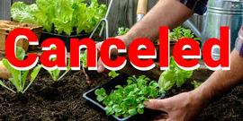 Starting a vegetable Gardening Canceled