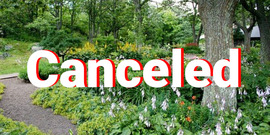 Garden walks Canceled