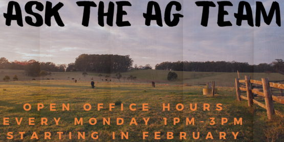 Ask the Ag Team starting Mondays in February!