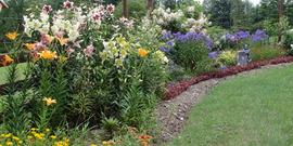 Mixed perennial border at LaDue Garden, a site on the 2015 Open Days Garden Tour