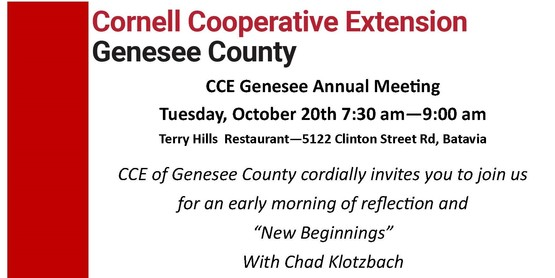 CCE Genesee Annual Meeting banner