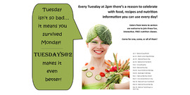 Tuesdays at 2:00 free nutrition classes