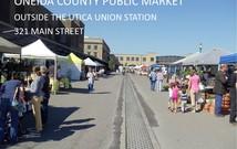Oneida County Public Market Saturdays 9-1.