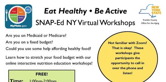 SNAP-Ed NY Virtual Workshops for May