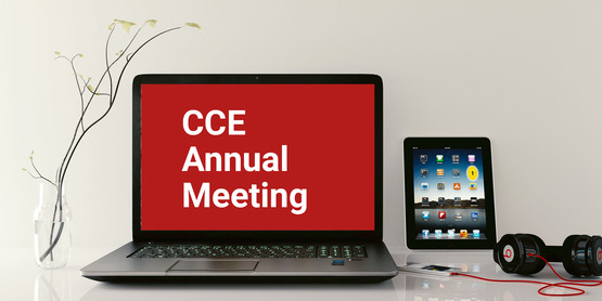 CCE Virtual Annual Meeting on Laptop