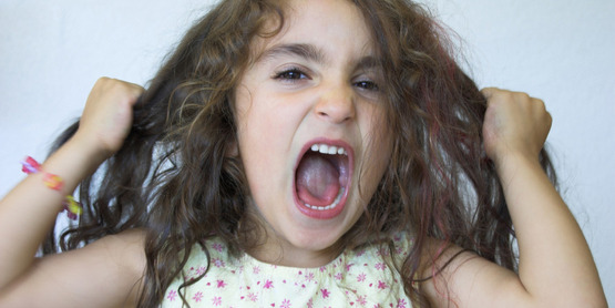 "young girl having a temper tantrum, for use with ""Thriving with your spirited child"" classes"