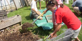 Youth turn compost - looking good!