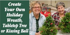 Wreath tree banner