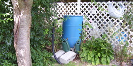 Rain barrel completed 3