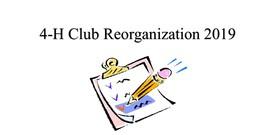 Reorganizational meeting flyer