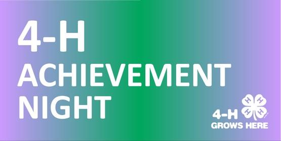 4H Achievement Night