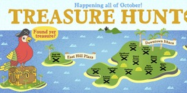 Treasure hunt website banner