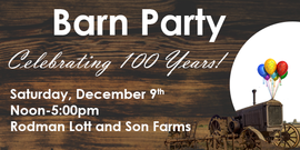 Celebrating 100 years barn party 2017 website banner