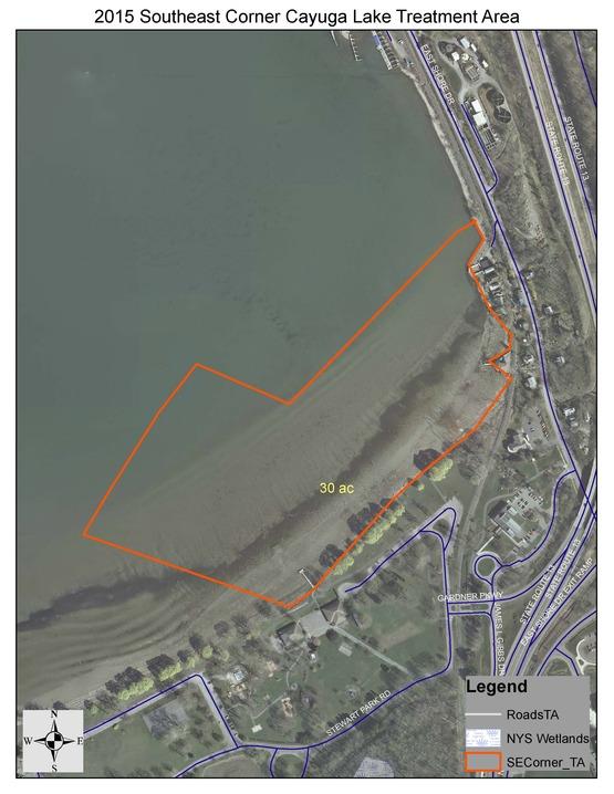 2015 Sonar H4C SE Corner Cayuga Lake - Hydrilla Treatment