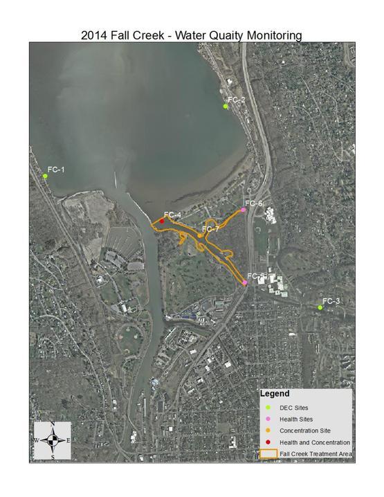 2014 Endothall Monitoring Fall Creek - Hydrilla Treatment