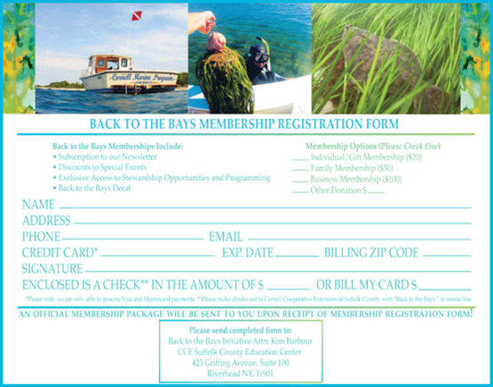 Back to the Bays Membership Form