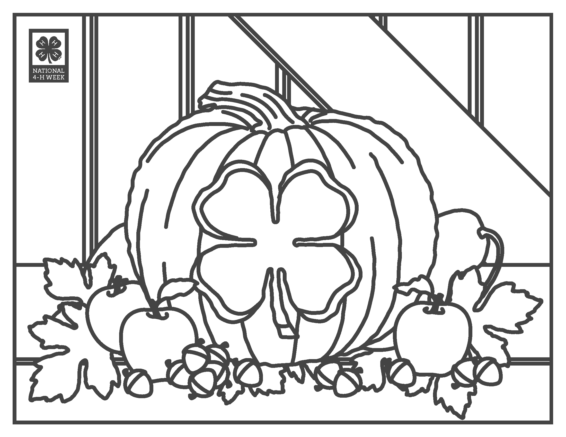 4 h coloring pages -