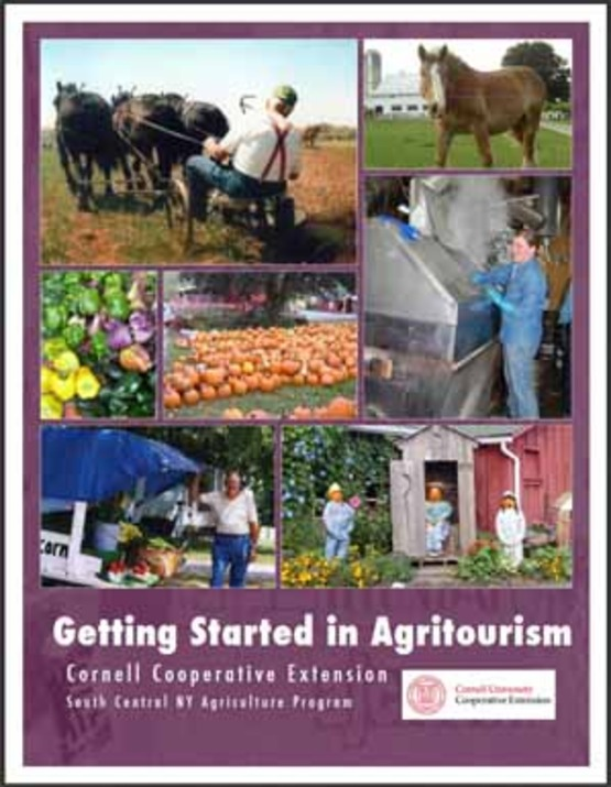 "cover image of the ""Getting Started in Agritourism"" booklet"