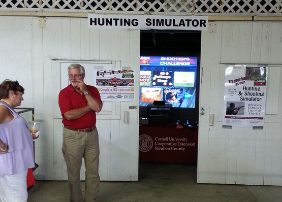 hunting simulator at fair