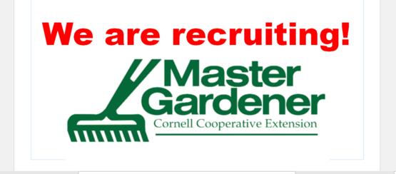 Recruiting Master Gardeners