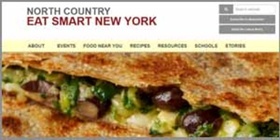 screenshot of ESNY website, 300px wide for use in sidebar, link to http://northcountryeatsmartny.org/