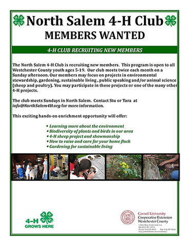 North salem 4 h members wanted smaller
