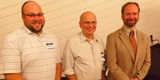 Out going Board members Todd Giroux, and George Palmer with Matthew Douthat Board President