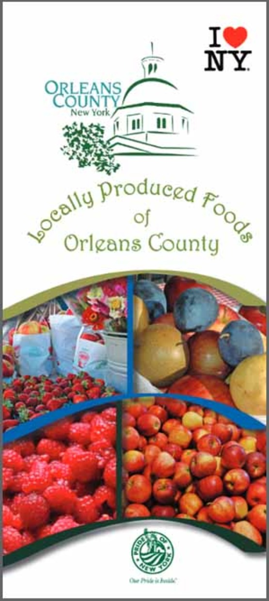 Graphic for cover of Orleans Local Foods guide, 300px for sidebar