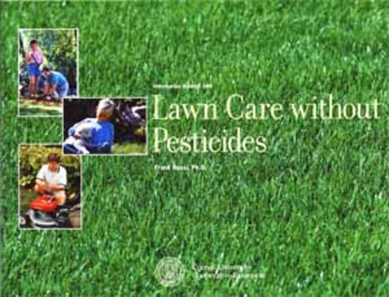 "cover of ""Lawn Care Without Pesticides"" by Frank Rossi"