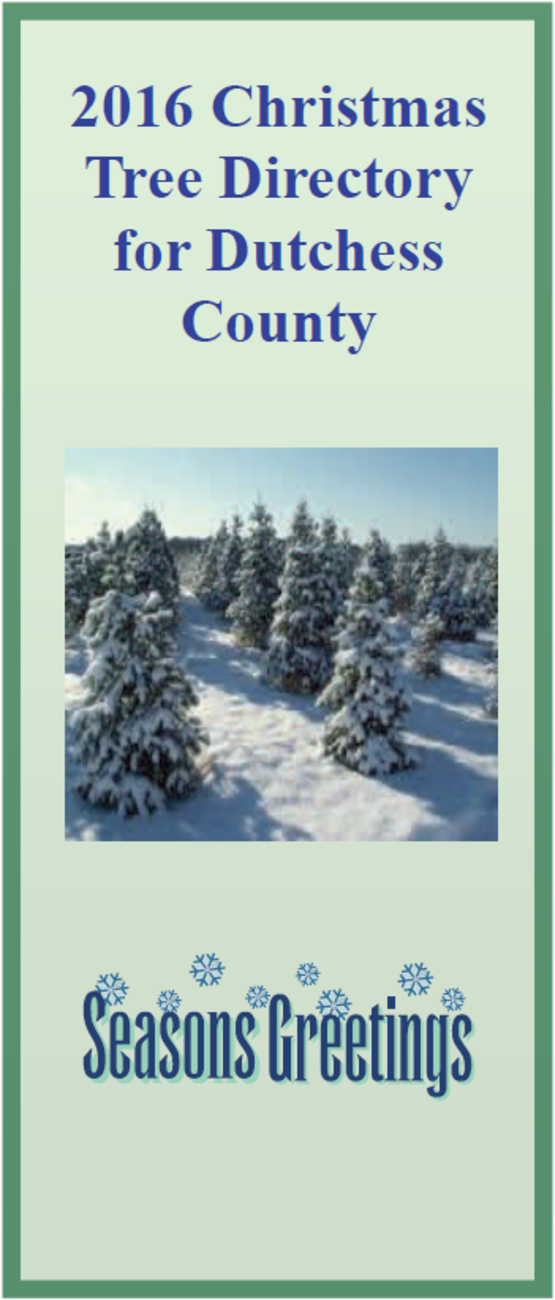 2016 Dutchess County Christmas Tree Directory
