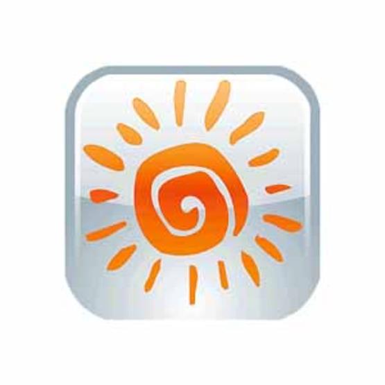 Bunk1 app logo with 50px white border