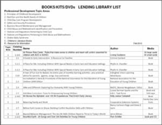 sidebar image of lending library first sheet