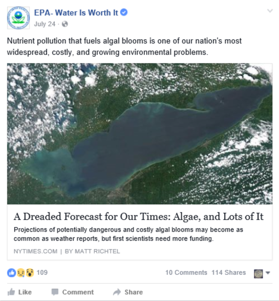 epa facebook water quality