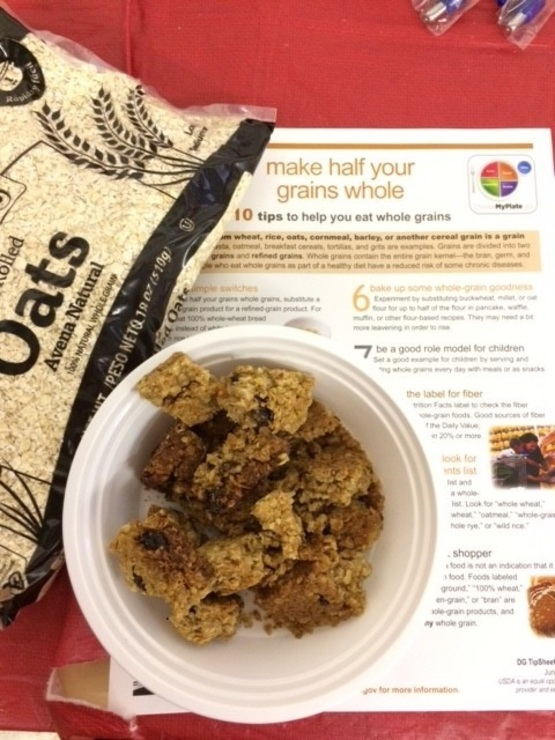 Oatmeal bars made with whole grains