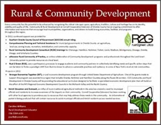 learn more flier for Rural Community Development