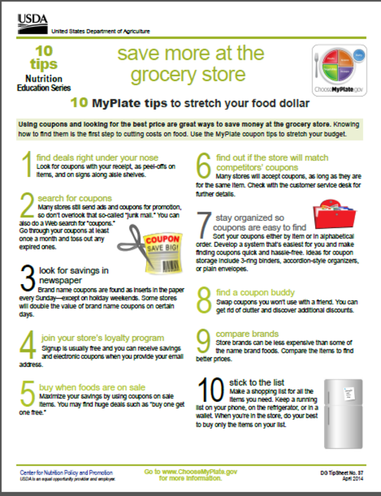 10 tips grocery