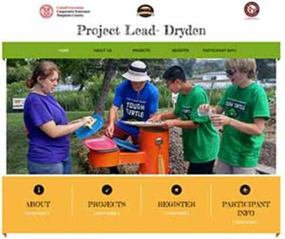screenshot of Dryden OURS website